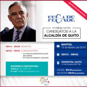 Te invitamos al conversatorio con el General Paco Moncayo, candidato a la Alcaldía de Quito